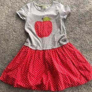 Mini boden apple polka dot dress size 7 8